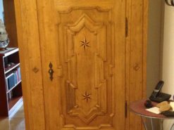 Handmade Antique Wood Closet With Carvings