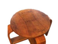 Art Déco Wood Side Table
