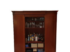 Cherry Wood Display Cabinet With Two Doors