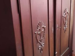 Antique Solid Wood Cabinet With Carvings In Good Condition