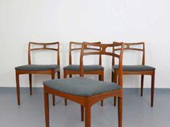 "4 Chairs - J. Andersen für C. Linneberg - ""Model 94"""