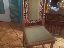 Handmade Antique Wood Chair With Carvings