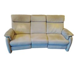 Electric 3 Seater Microfibre Sofa With LED Reading Lamp