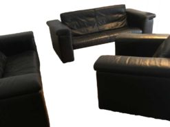 Black Leather Sofa Suite Made By Rolf Benz