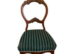 Antique Chair Made Of Solid Wood With Striped Pattern