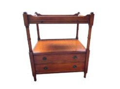 Antique Sidetable With 2 Drawers Made Of Solid Wood