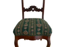 Antique Chair Made Of Solid Wood With Floral Pattern