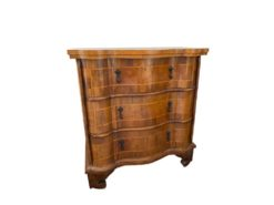 Antique Commode Made Of Solid Wood With 3 Drawers