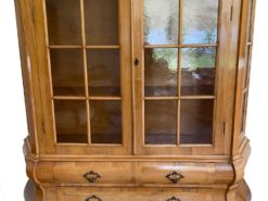 Antique Display Cabinet Made Of Solid Wood