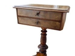 Antique Marbeld Side Table Made Of Solid Wood