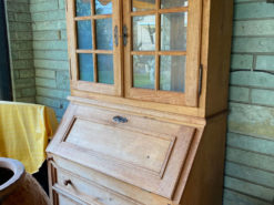 Antique Secretary Made Of Solid Wood