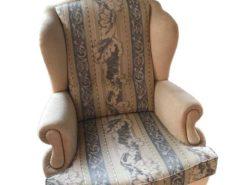Antique Armchair In Floral Design