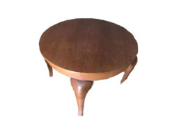 Round Extendable Table Made Of Solid Wood