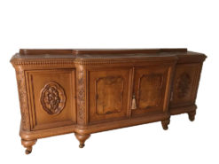 Antique Sidebar Made Of Solid Wood With Floral Carvings