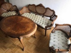 Dining-/Living-Room Set: 3-Seater-Settee, 2-Seater-Settee, Chair And A Table