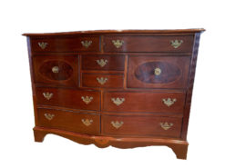 Antique Drawer-Commode Made Of Solid Wood