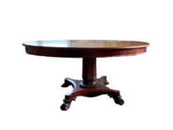 Antique Coffee Table Made Of Walnut Wood