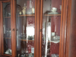 Antique Display Cabinet, Made of Solid Wood, Perfect Condition