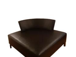 Black Designer Leather Divan Sofa Chair