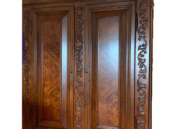 Cabinet From The Baroque Era - Made Of Solid Wood