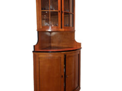 Biedermeier Bow-Fronted Corner Cabinet Made Of Cherrywood