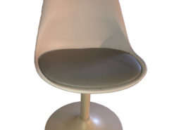 White/Grey Designer Chair With Metal Legs
