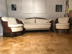 Antique Set of Upholstered Settes, Made Of Mahogany