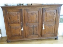 Antique Buffet, Made Of Walnut Wood, With Floral Carvings