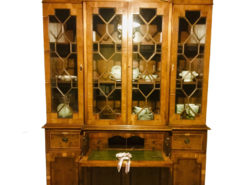 Antique Inlaid Bureau Bookcase Mad Of Yew Tree