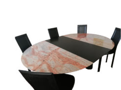 Extending Dining Room Table Made of Marble And Ash Wood