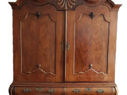 Serpentine Shaped Baroque Cabinet Made Of Solid Wood