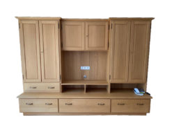 Oak Wood Furniture Set, 7 Pieces, Solid Wood