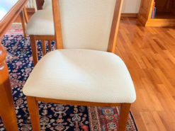 8 Dining Room Chairs, Cherry Tree Wood, Vintage