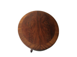 Oval antique coffee table made of solid wood