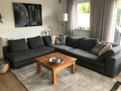 Exclusive Grey Designer Corner Couch, Made By Minotti