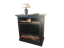Black Entertainment Cabinet Made Of Solid Wood