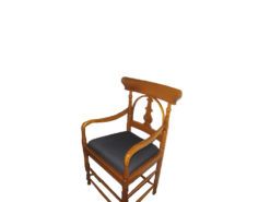 Antique Chair Set, Made Of Solid Wood, From Around 1930