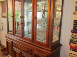 Display Cabinet, Made Of Solid Wood, Country-Style
