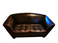 Black Designer 2-Seater Couch, Made By COR