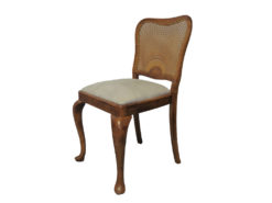 4 Upholstered Chairs, Made Of Solid Wood