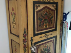 Handmade Bedroom Closet With Floral Painting On The Front