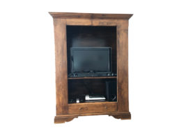 Entertainment Cabinet, Made of Dark Solid Wood