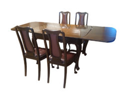 Antique Dining Room Table and Chairs, Made Of Solid Wood