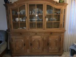 Belgian Oakwood Display Cabinet, 1972, Country Style