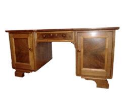 Handmade Wood Desk, Lockable Drawer, Solid Writing Surface