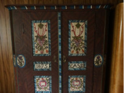 Cabinet With Floral Paintings, Country Style