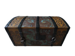 Painted Wood Chest with 2 Locks