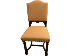 12 Antique Upholstered Dining Room Chairs, Solid Wood