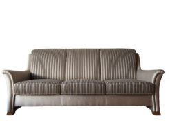 Striped 3-Seater-Sofa With 2 Matching Armchairs