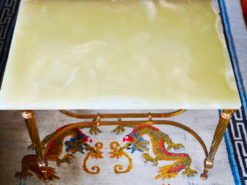 Onyx Coffee Table, Brass-Frame